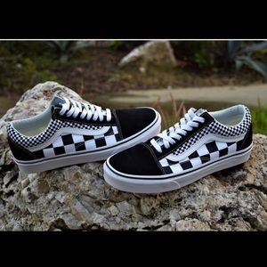 Vans old school double checkered shoes
